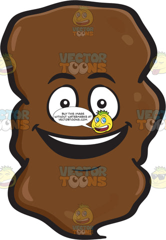 A Very Happy Large Chunk Of Poo