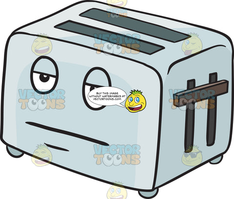 Pop Up Toaster Looking Bored Emoji