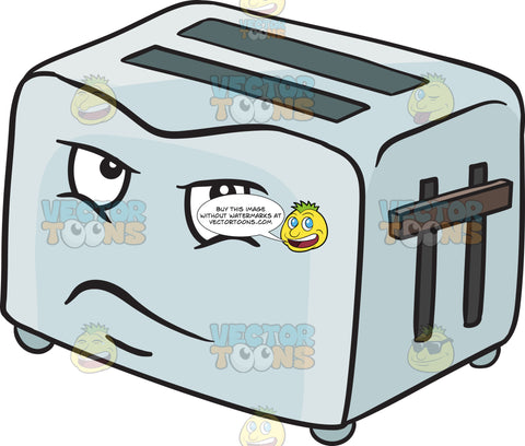 Pop Up Toaster Looking Upset Emoji