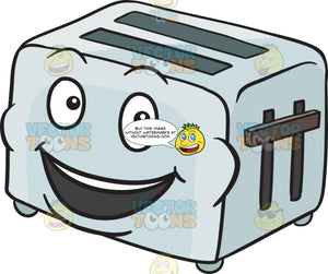 Pop Up Toaster Smiling In Delight Emoji
