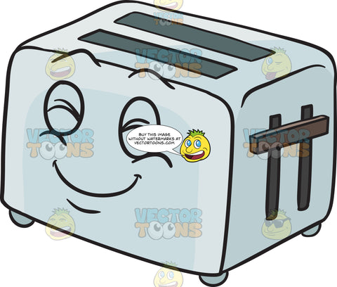Pop Up Toaster Smiling In Glee Emoji