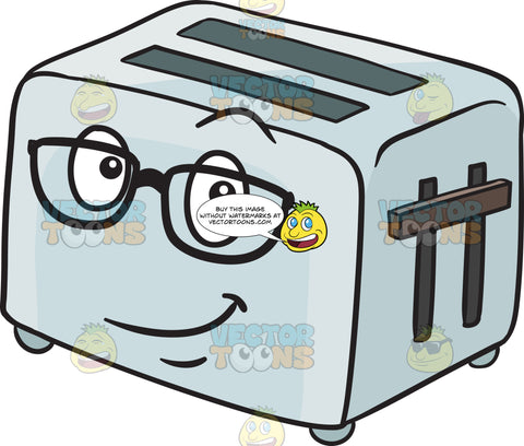Pop Up Toaster Wearing Eye Glasses Emoji