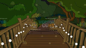 Pretty Garden Staircase At Night Background