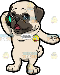 A Pug Talking On The Phone
