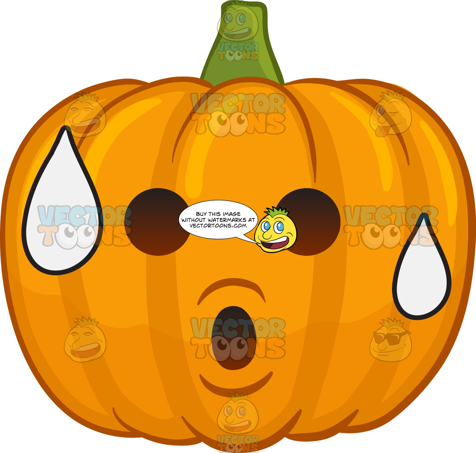 A Sweating Halloween Pumpkin