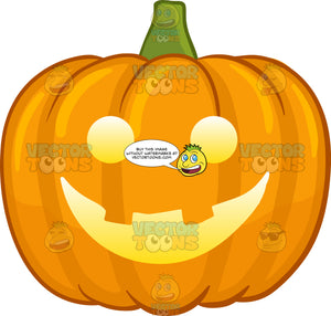 An Illuminated Happy Halloween Pumpkin