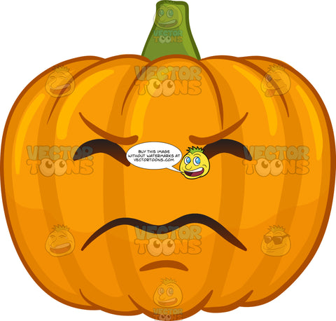 An Irritated Halloween Pumpkin