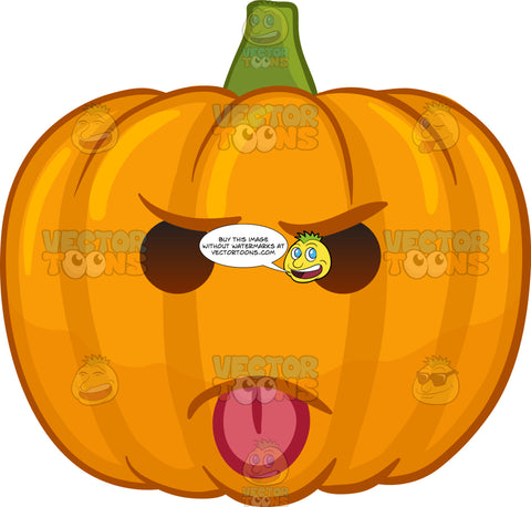 A Mocking Halloween Pumpkin