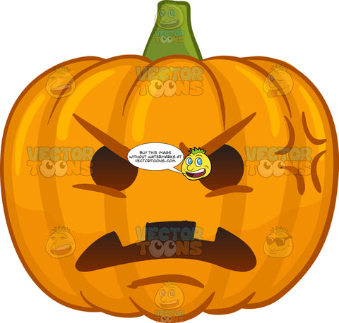 A Furious And Hurt Halloween Pumpkin