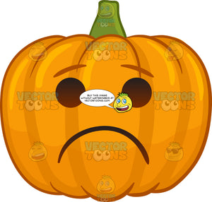 A Lonesome Halloween Pumpkin