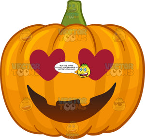 A Halloween Pumpkin Looking Hopelessly In Love
