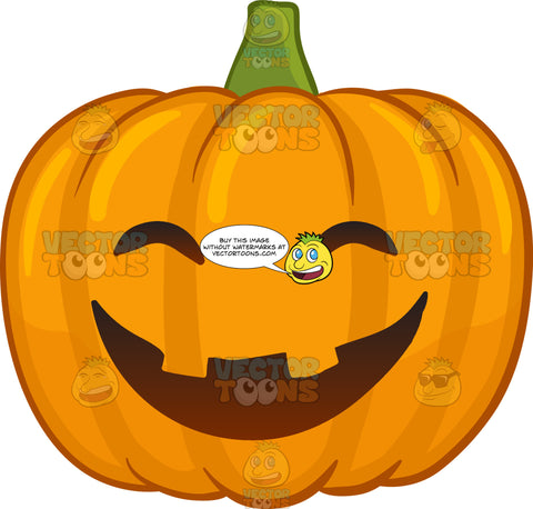 A Laughing And Joyful Halloween Pumpkin