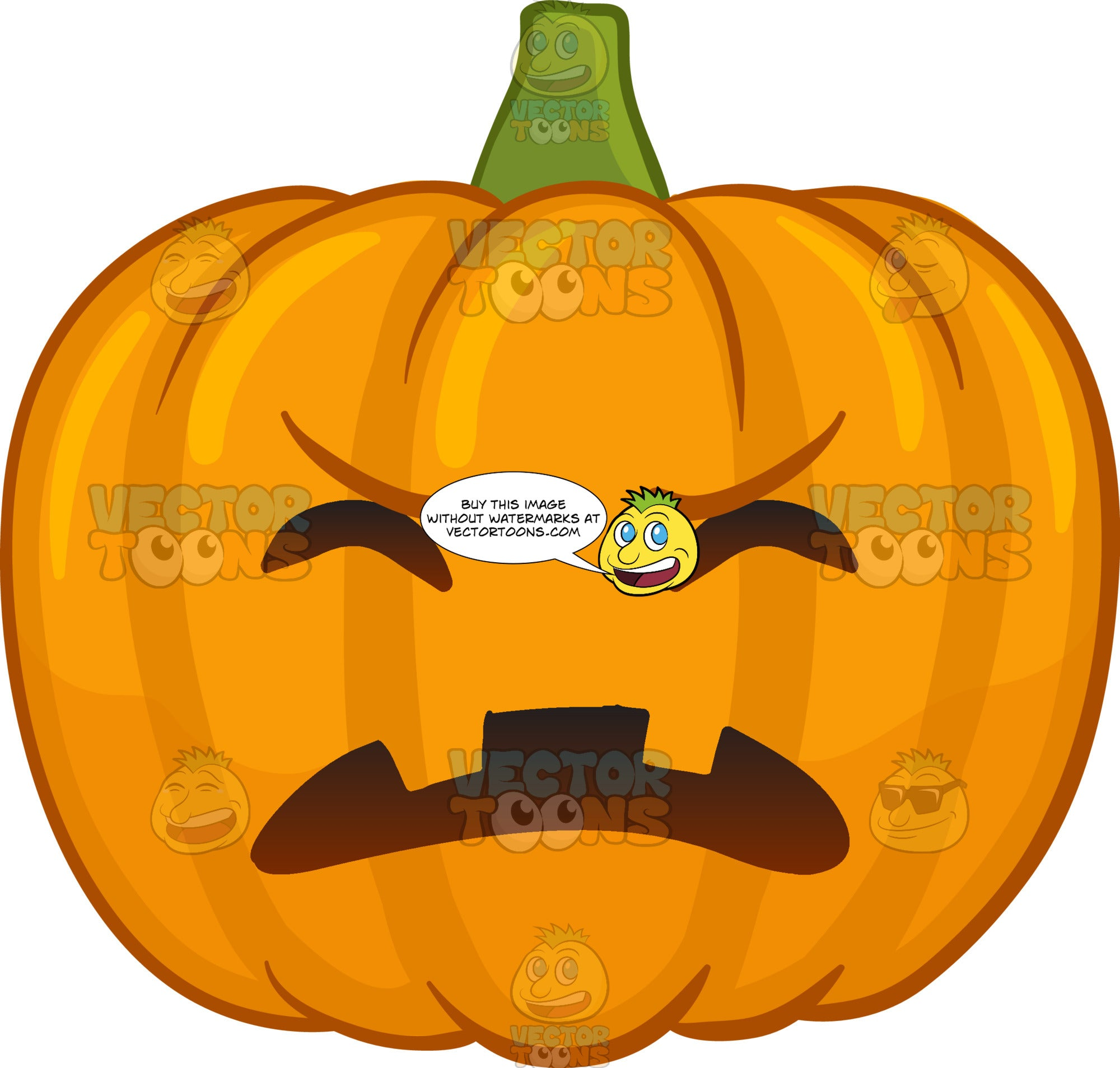 A Frustrated Halloween Pumpkin