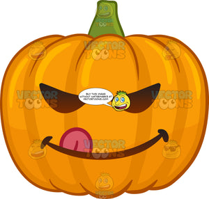 A Naughty Halloween Pumpkin