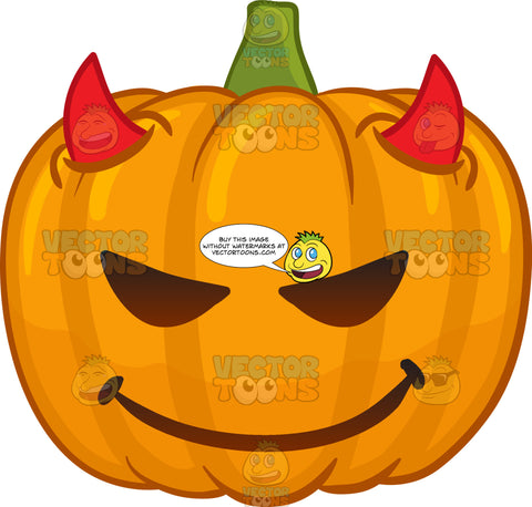 A Devilish Halloween Pumpkin