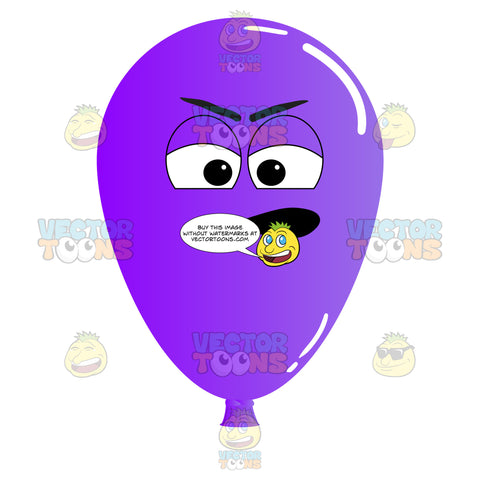 Purple Balloon Irritated And Nagging Emoji