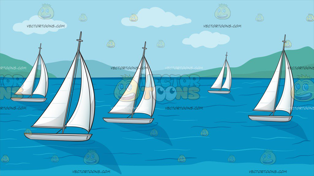 Racing Sailboats Background