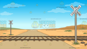 Railroad Crossing Background