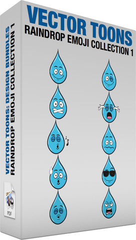 Raindrop Emoji Collection 1
