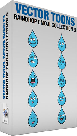 Raindrop Emoji Collection 3