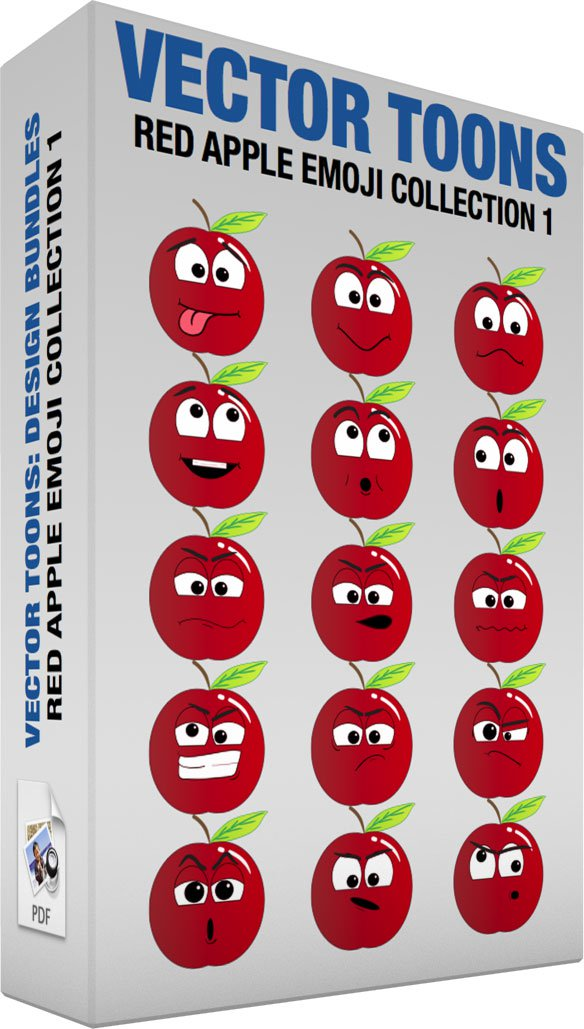 Red Apple Emoji Collection 1