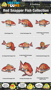 Red Snapper Fish Collection