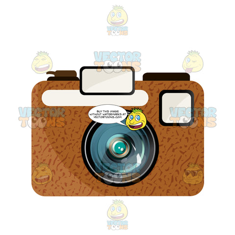 Wood Grain Single Lens Retro Camera