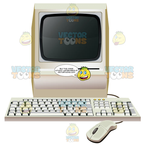 Old Style Mac Or Pc With Floppy Drive