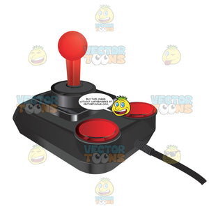 Atari Style Joystick With Two Red Buttons