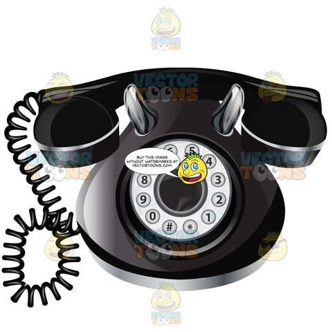 Vintage Telephone With Rotary