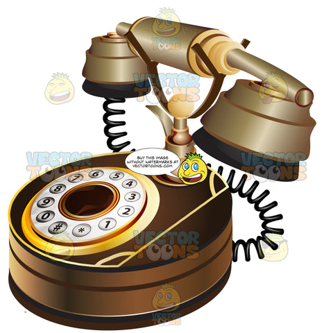 Brown Rotary Telephone