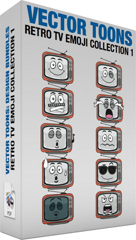 Retro Tv Emoji Collection 1