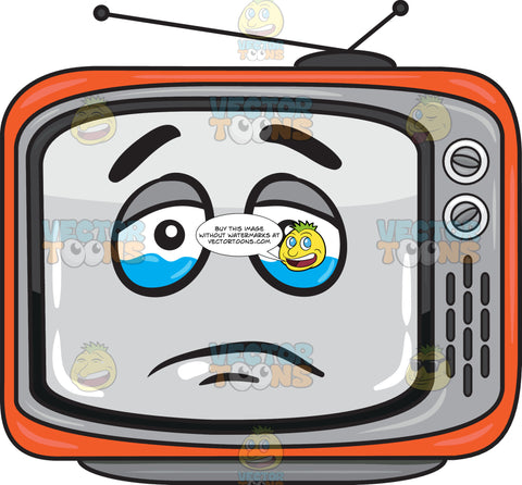 A Teary Eyed Retro Tv Set