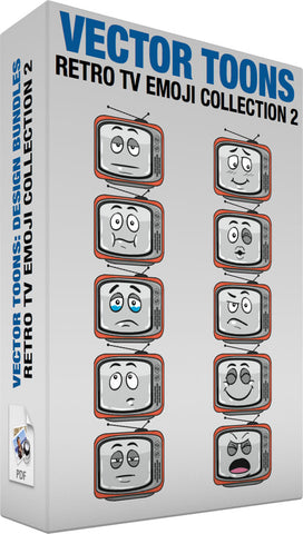 Retro Tv Emoji Collection 2
