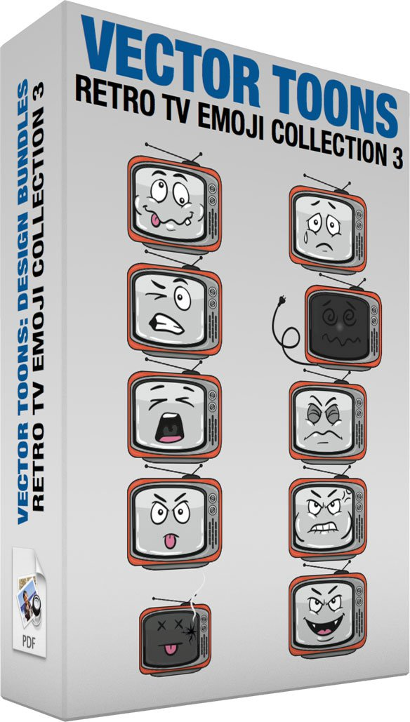 Retro Tv Emoji Collection 3