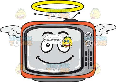 An Angelic Retro Tv Set