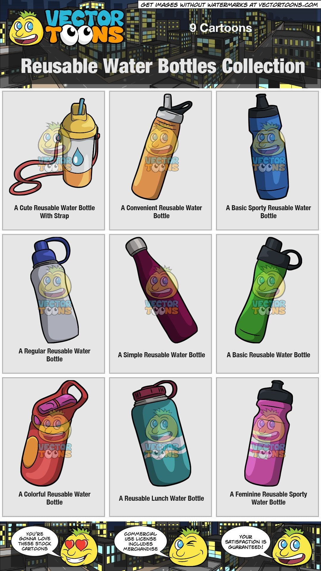 Reusable Water Bottles Collection
