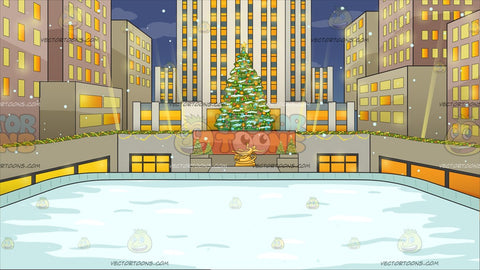 Rockefeller Center At Christmas Background