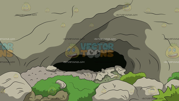 Rocky Cave Entrance Background Clipart Cartoons By Vectortoons