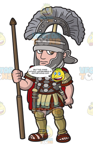 A Roman Centurion On Guard