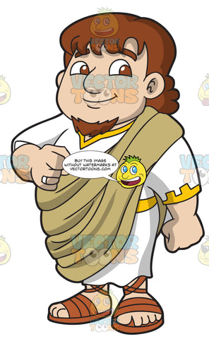 A Chubby And Happy Roman Senator