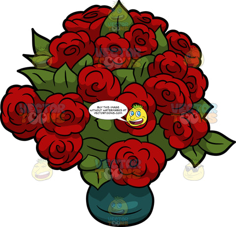 A Bouquet Of Beautiful Red Roses