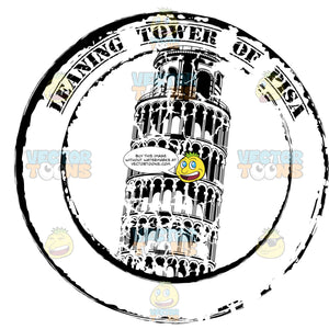 Leaning Tower Of Pisa Italy Rubber Passport Stamp