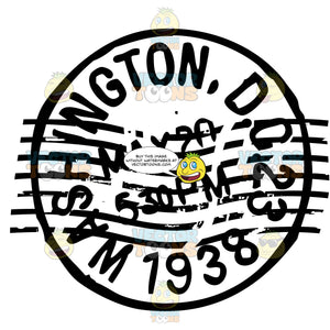 Washington Dc Origination Postage Rubber Stamp In Ink Circle