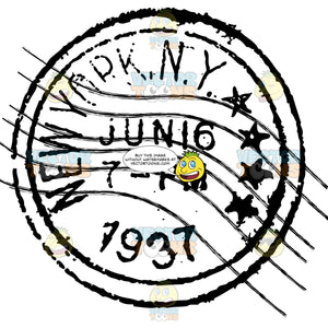 New York N Y Delivered Letter Mail Postage Stamp