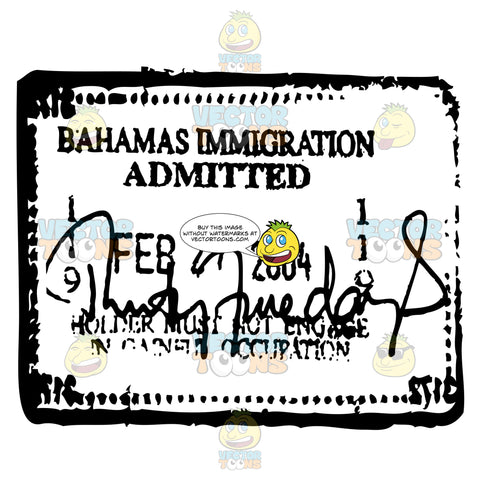 Bahamas Approved Passport Travel Stamp