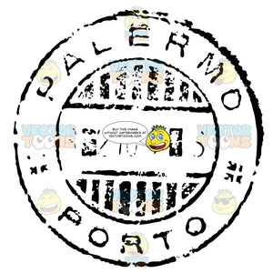Province Of Palermo Italy Sicily Rubber Stamp