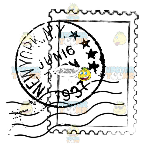 New York Ny Nyc Delivery Us Mail Rubber Stamp Sent