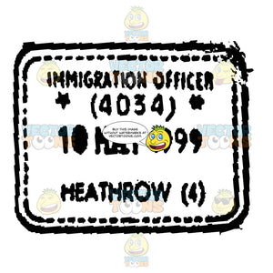 Heathrow Airport London Uk Travel Rubber Stamp Ink