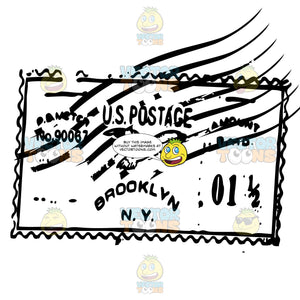 Brooklyn, New York Us Postmark Square Design With Eagle